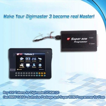 Buy 300 Tokens for Digimaster3CKM100 Get BMW CAS4+ Authorize Package and Super BDM Programmer for Fr