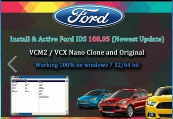 Latest Ford VCM IDS V116 Full Software Support Multi-languages WIN 7 32 64Bits