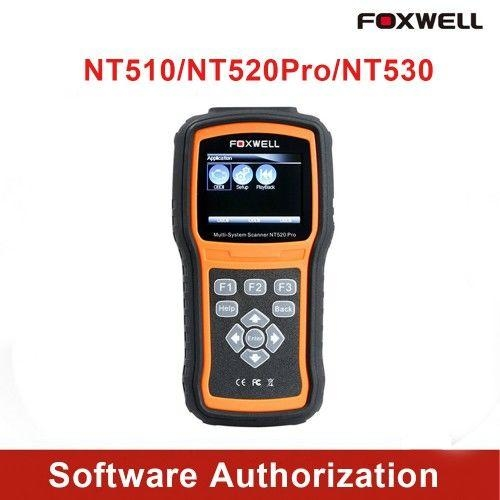 Foxwell NT510 NT520 NT530 Software Authorization Service For BMW,Chrysler,Ford,GM,Honda,VW