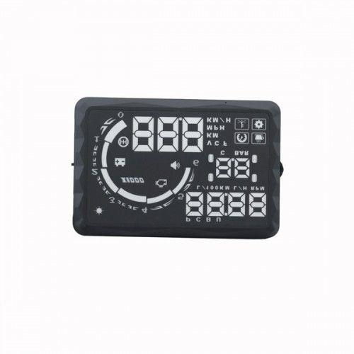 "New 5.5"" LED OBD-II HUD Head Up Display Over Speeding warning/speed/KM rpm/Shift Light/Temperat"
