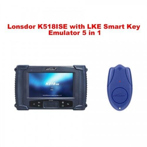 Lonsdor K518ISE Key Programmer Plus LKE Smart Key Emulator 5 in 1 Full Package