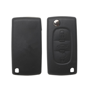 Remote Key Shell 3 Button HU83 3B (with Groove) for Citroen 5pcs/lot