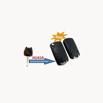 Buy Modified Flip Remote Key Shell 2 Button (HU43) for Opel 5pcs/lot