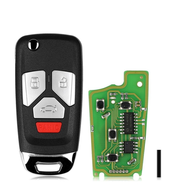 Xhorse XKAU02EN Wire Remote Filp Key for Audi Type 3+Panic 5pcs/lot
